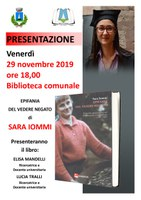 """Presentazione del libro """"Epifania del vedere negato"""" di Sara Iommi (29 novembre)"""