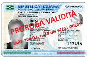 Prorogata la scadenza della carta di identità al 31 agosto 2020
